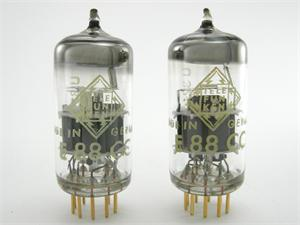 Telefunken E88CC / 6922 - gold pins, matched pair