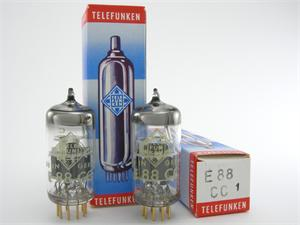 Telefunken 6922 / E88CC - gold pins, matched pair