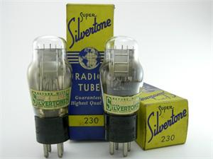 Silvertone 30 / 230 triode - matched pair