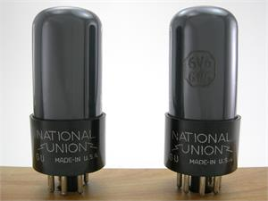National Union VT-107-A 6V6GT/G - gray glass, matched pair