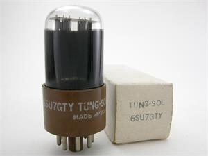 Tung-Sol 6SU7GTY / 6SL7GT - black glass
