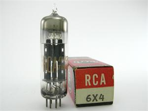 RCA 6X4 - black plates, dimpled D getter