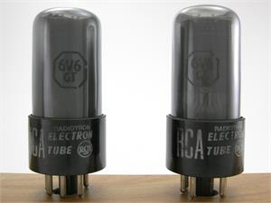 RCA 6V6GT - gray glass, matched pair