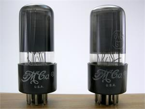 GE 6V6GT - black glass, matched pair