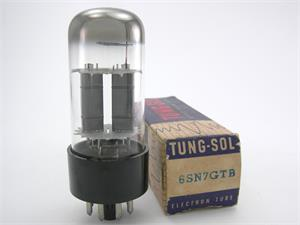 Tung-Sol 6SN7GTB - tall bottle