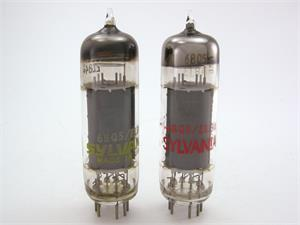 Sylvania 6BQ5 / EL84 - matched pair