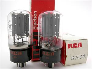 RCA 5V4GA - gray plates, matched pair