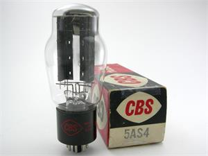 CBS 5AS4 / 5U4G - ST bottle, ribbed plates