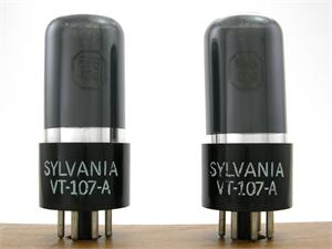 Sylvania VT-107-A / 6V6GT/G - gray glass, matched pair
