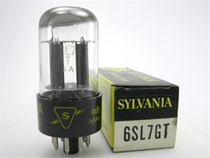 Sylvania 6SL7GT - top getter