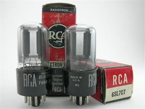 RCA 6SL7GT - gray glass, matched pair