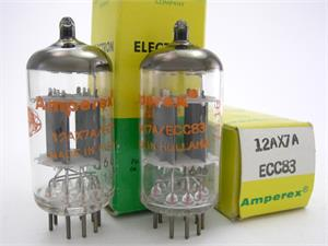 Amperex 12AX7 / ECC83 - dimple getter, matched pair