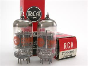RCA Command Series 5814A / 12AU7 - matched pair