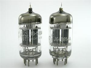 GE JG-5814A / 12AU7 - matched pair, triple mica