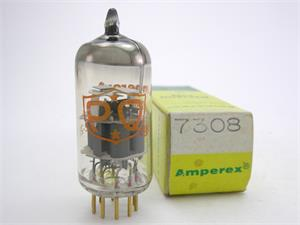 Amperex 7308 / E188CC - gold pins, PQ label