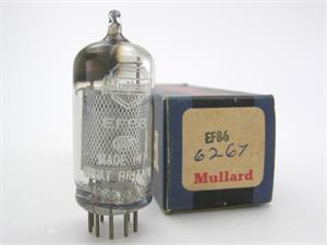Mullard EF86 / 6267 - mesh plate, early D getter