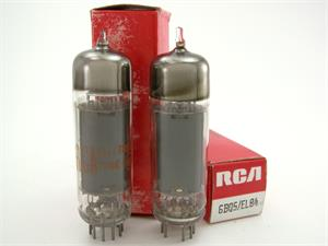 RCA 6BQ5 / EL84 - matched pair