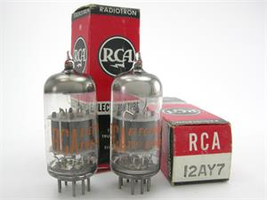 RCA 12AY7 - gray plates, matched pair