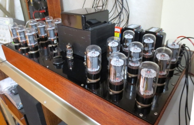 tctubes test rig loaded with 18 GE 6L6GC tubes